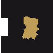 Logo der Landesauszeichnung: Ein einzelnes, schwarzes Rad mit Sattel und Lenker, in der Radnarbe sieht man den goldenen Umriss des Lands Baden-Württemberg.